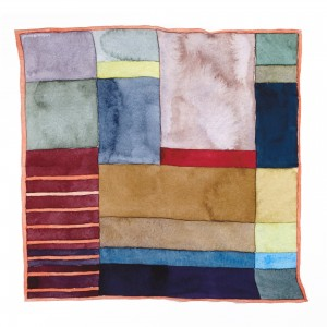 Silk Square Block scarf