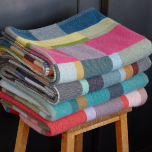 Lambswool block throws