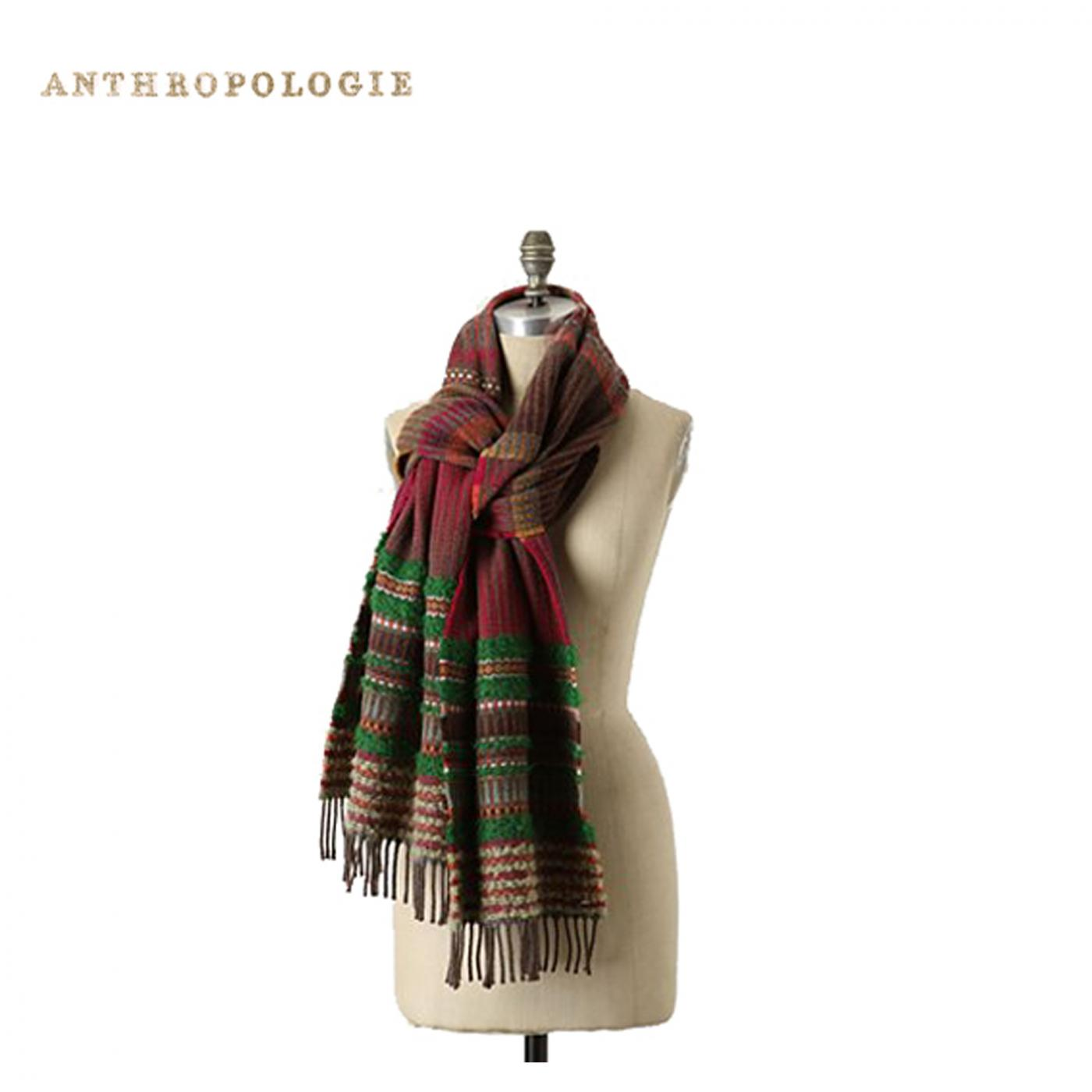 Anthropologie – Lambswool Triangle weave wraps