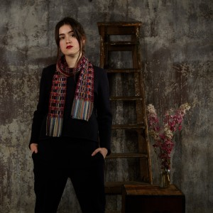 Silk and wool crepe scarves