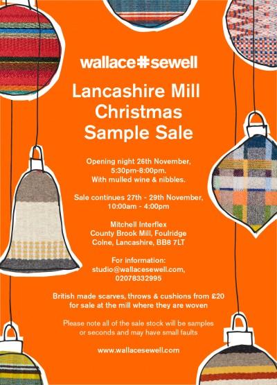 Lancashire Christmas Sample Sale