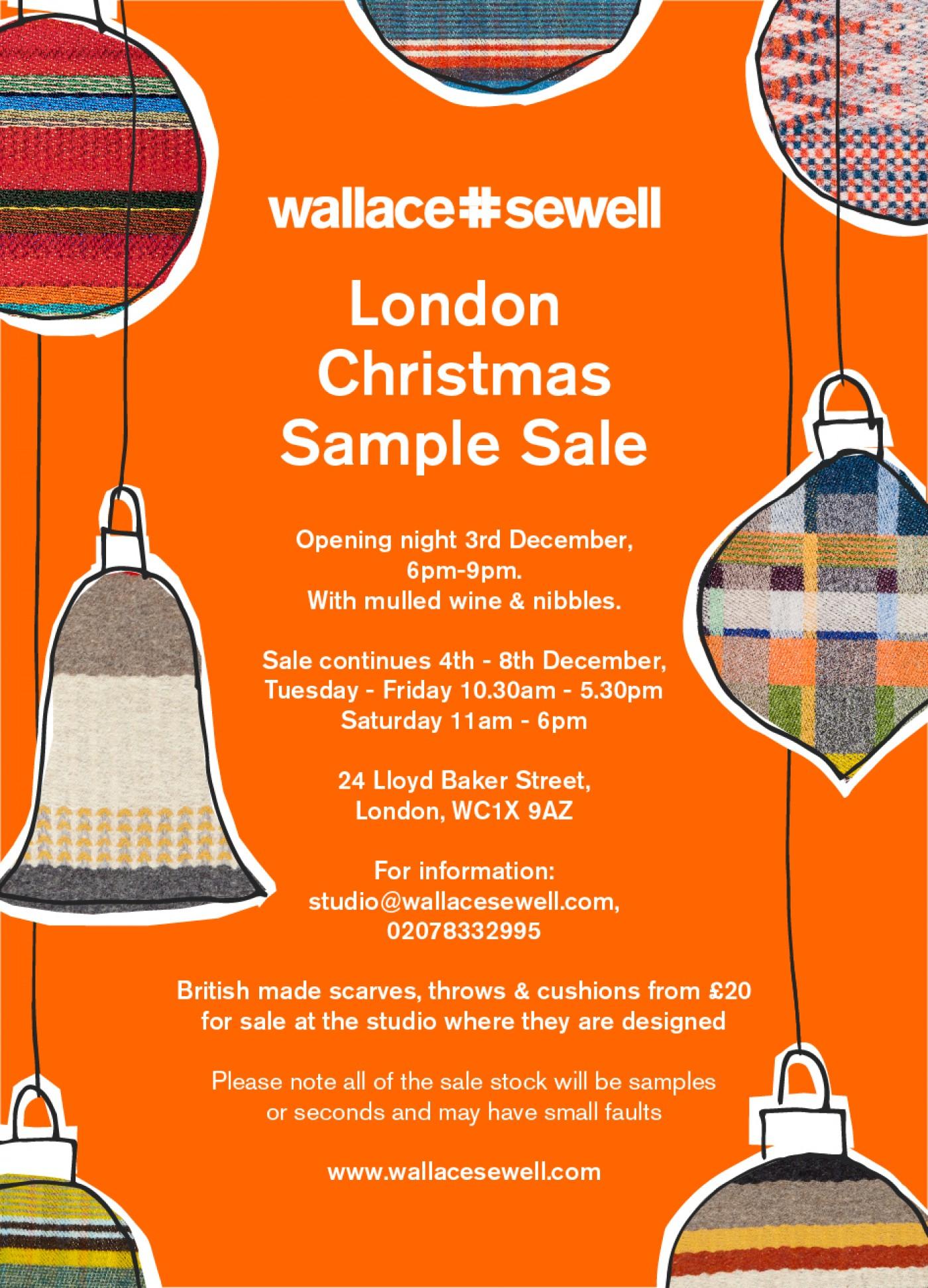 London Christmas Sample Sale