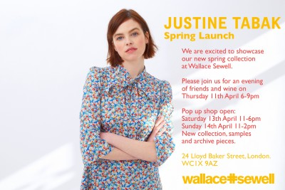 Justine Tabak at Wallace Sewell - Thursday 11th April - Sunday 14th April