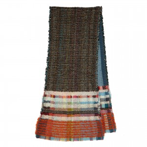 Scarf.Wool crepe and chenille.LICORICE.02
