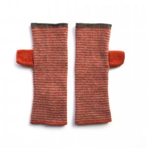 Katie Mawson Hand Warmer - Orange Stripe