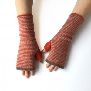 Katie Mawson Hand Warmer - Orange Stripe