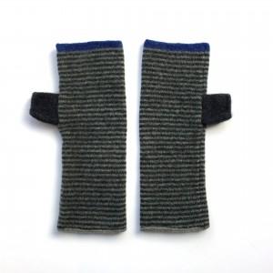 Katie Mawson Hand Warmer - Grey Stripe