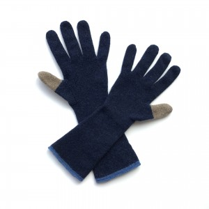 Katie Mawson Long Gloves - Navy