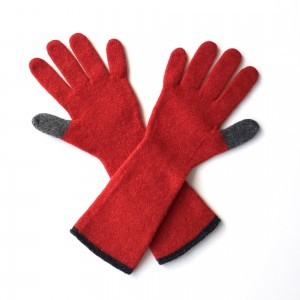 Katie Mawson Long Gloves - Red