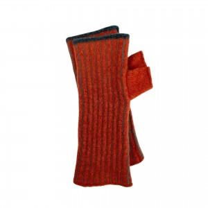 Hand Warmers - Orange/Grey Vertical Stripe